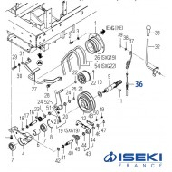 Câble d'Embrayage ISEKI (1728-334-240-30)