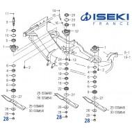Écrou de Lame ISEKI (8595-306-007-00)